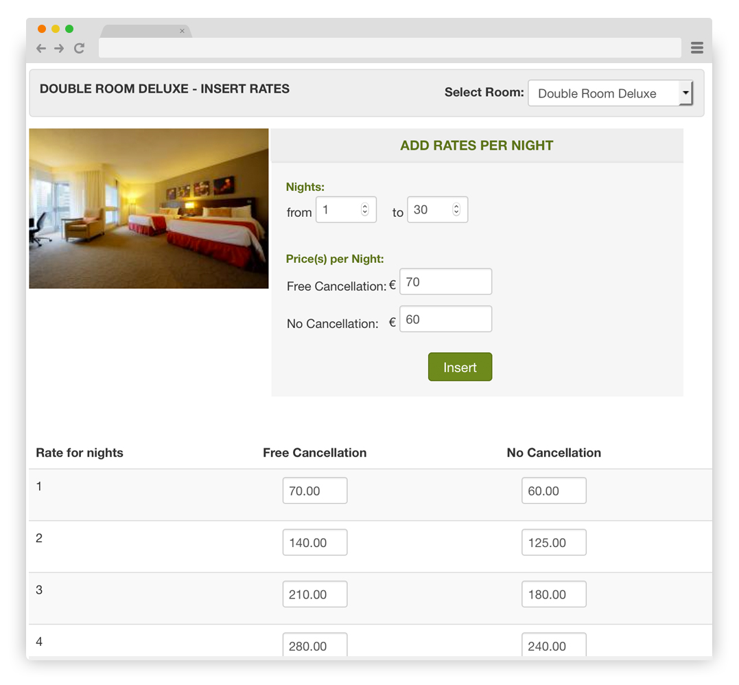 Vik Booking - Prices per Night and per Occupancy