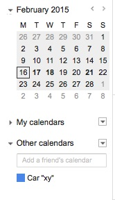 Vik Rent Car - Cal Sync Google Calendar