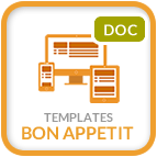 Template Bon Appetit - documentation