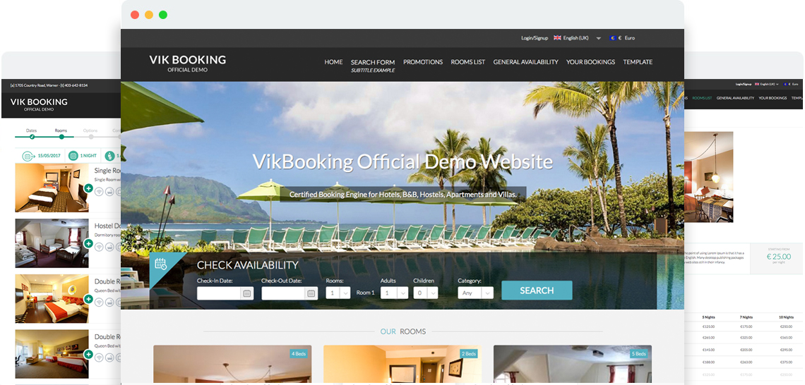 Joomla Hotelier Template for Vik Bookings Websites