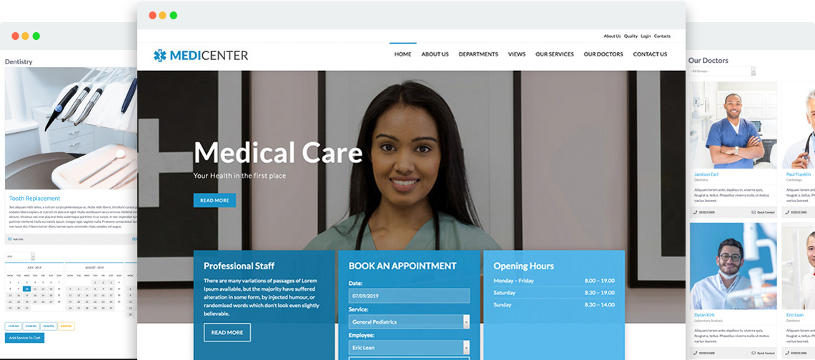 MediCenter - Medical template for Joomla