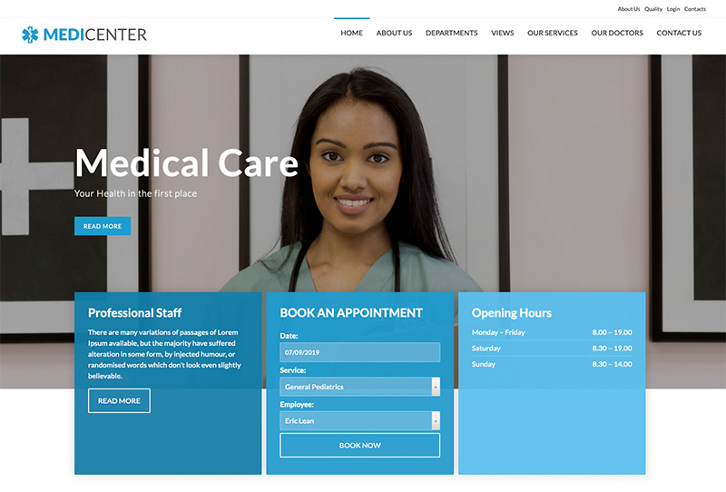 MediCenter Template Blue Version