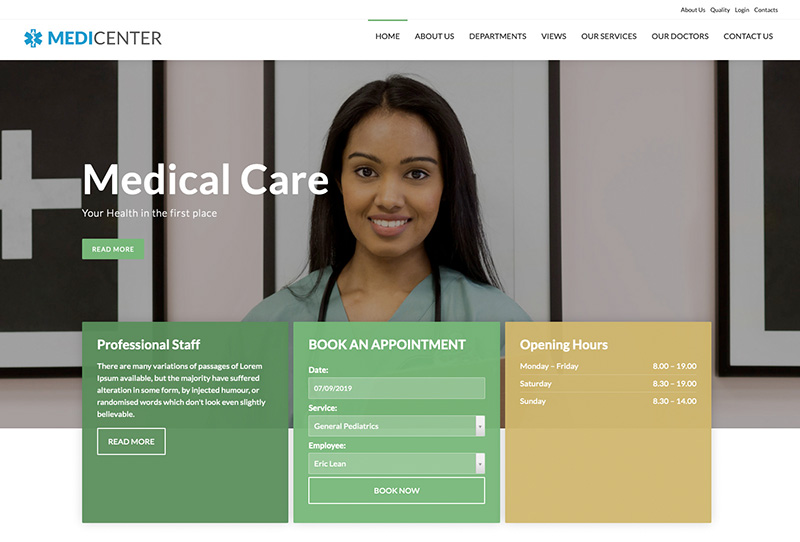 MediCenter Template Green Version