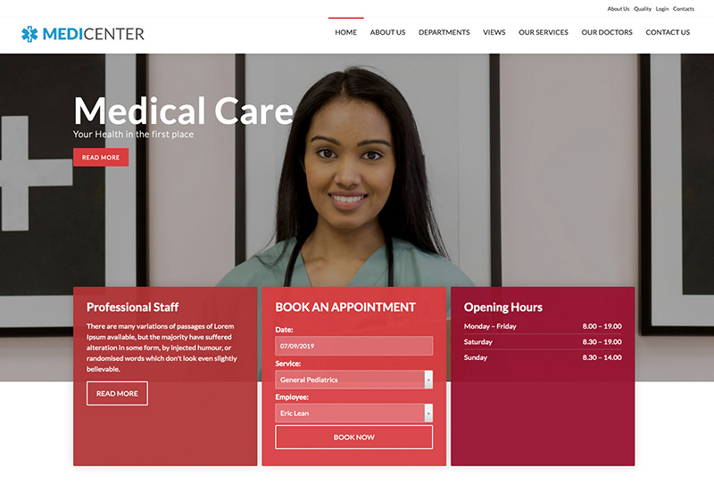 MediCenter Template Red Version
