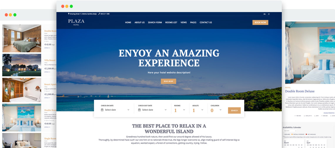 Plaza - Booking Hotel templates for Joomla