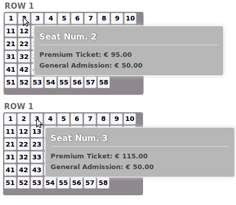 Vik Events -  Manage Seats Charges 2
