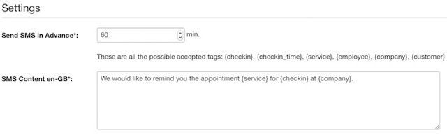 Vik Appointments - settings 2